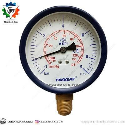 مانومتر خلا پکنز Pakkens صفحه 10 سانت عمودی خشک 1- تا 15 بار