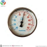 ترمومتر پکنز PAKKENS صفحه 10 سانت افقی 30- تا 60+ درجه