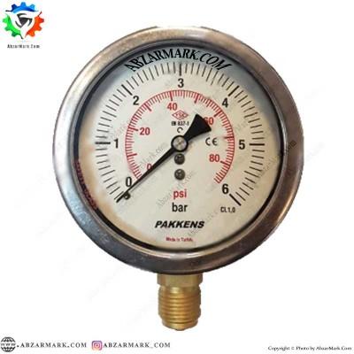 مانومتر پکنز PAKKENS صفحه 10 سانت عمودی روغنی CL1,0